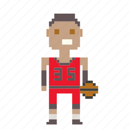avatar, basketball, basketball player, man, person, pixels icon