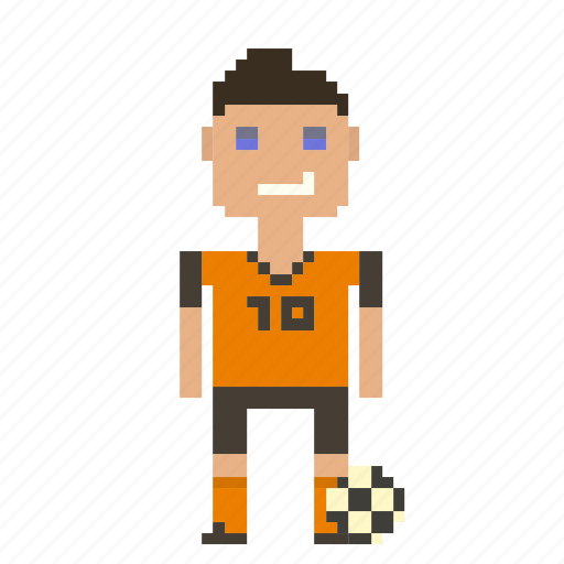 avatar, football, football player, man, person, pixels, soccer, soccer player, sport icon
