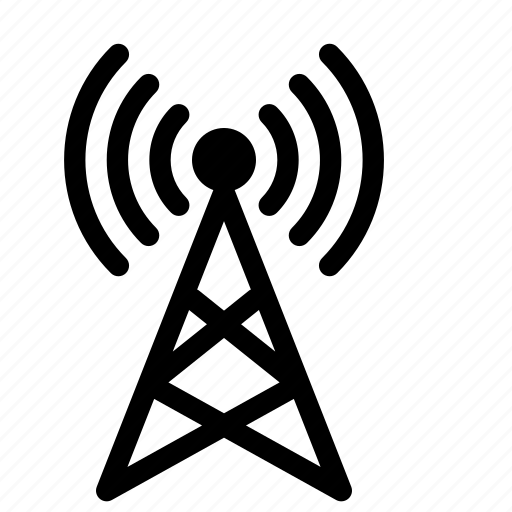 antenna, broadcast, gprs, gps, location, network, signal icon