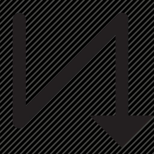 descending, mode, priority, sort, sorting, vertical icon