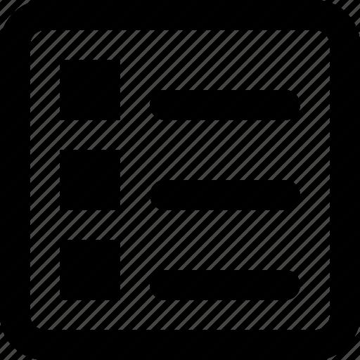 attributes, description, list, subtitle, task icon