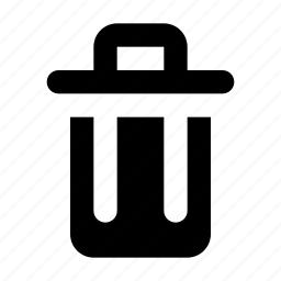 bin, delete, erase, exclude, exclusion, remove, trash icon