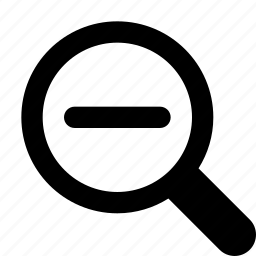 magnifier, minus, out, smaller, zoom icon