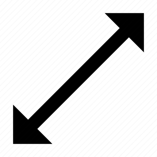 arrows, direction, line, vector line icon