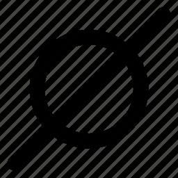 empty, math, nothing, zero icon