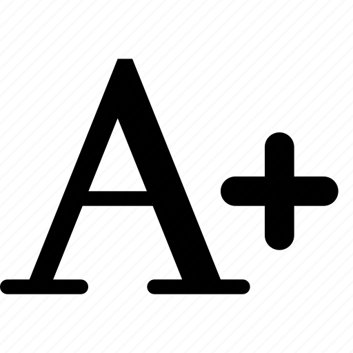bigger, letter, size, text icon