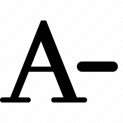 letter, size, smaller, text icon