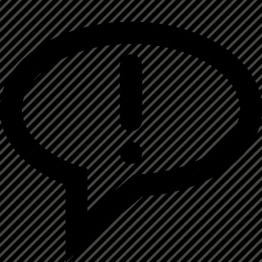alert, answer, ballon, dialog, shout, speech icon