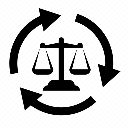 criminal, justice, law, process, steps icon