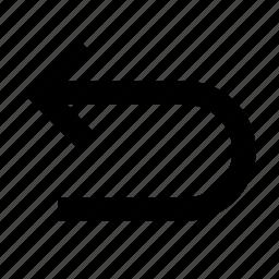 arrow, back, cancel, delete, edit, left, rotate, undo icon