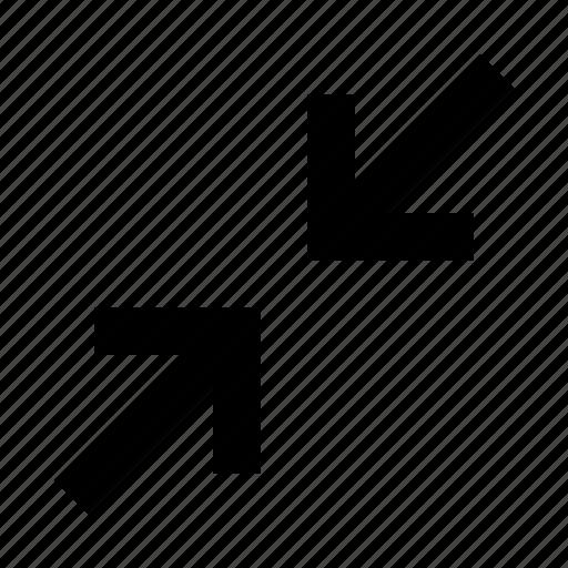 arrows, extend, full, fullscreen, minimize, resize, screen icon
