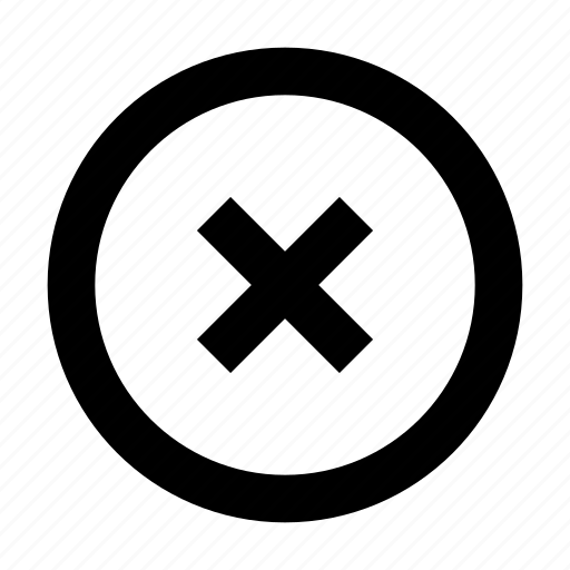 circle, close, delete, exit, remove, x icon