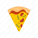 cheese, cook, delicious, mozzarella, pepperoni, pizza, slice