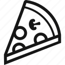 fast food, food, pizza, slice icon