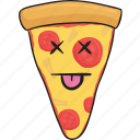 emoji, slice, cartoon, smiley, pizza