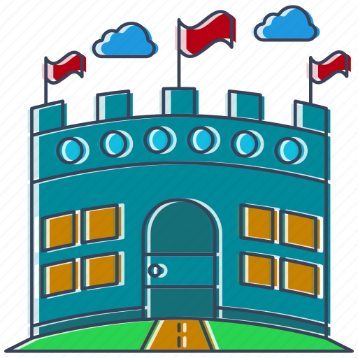 arena, building, buld, city, country, location, place icon