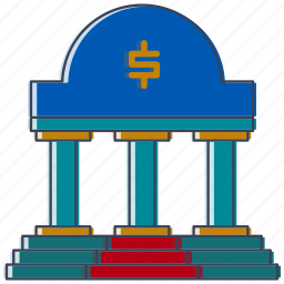 bank, city, country, dollar, guardar, location, place, save icon