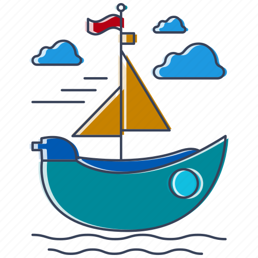 boat, city, country, location, place, ship, watercraft icon