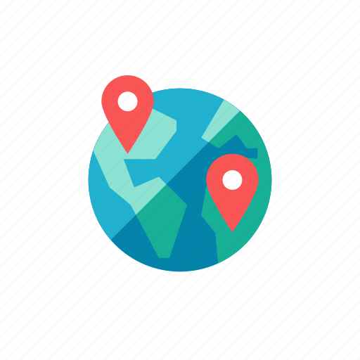 global, globe, gps, location, navigation, pin, planet icon