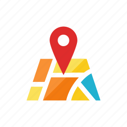 location, map, navigate, pin, travel icon