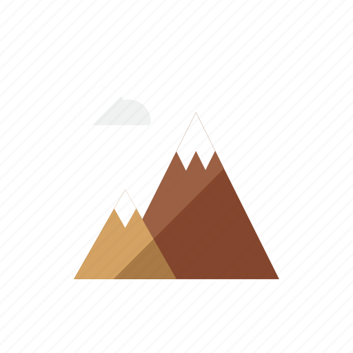 mountain, travel, vacation icon