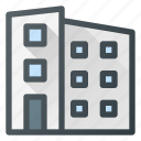 apartment, architecture, block, building, landmark, place icon