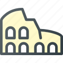 architecture, building, colosseum, landmark, place icon