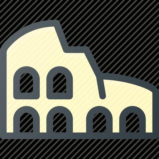 architecture, building, colosseum, landmark, place icon