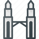building, landmark, place, architecture, petronas