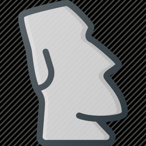 easter, island, landmark, place, statue icon