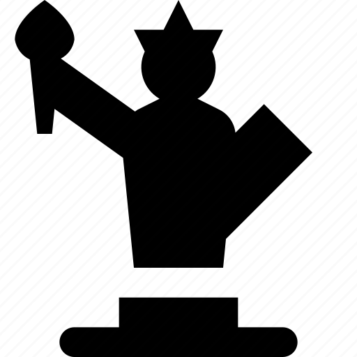 liberty, of, statue icon