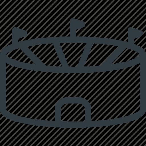 complex, sport, stadium icon