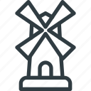 building, windmill icon