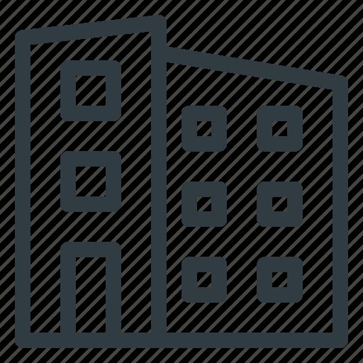 apartment, block, building, landmark, place icon