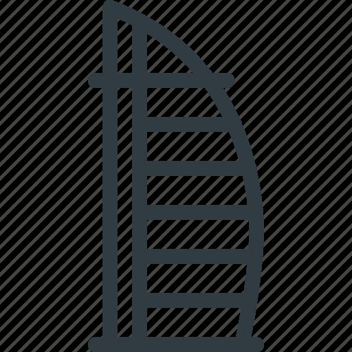 architecture, building, burj, dubai, kalifa, landmark, place icon