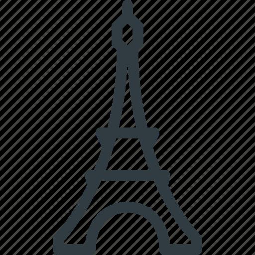 architecture, building, eiffel, landmark, paris, place, tower icon