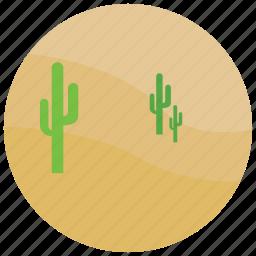 cactus, desert, heat, locations, places, sand icon