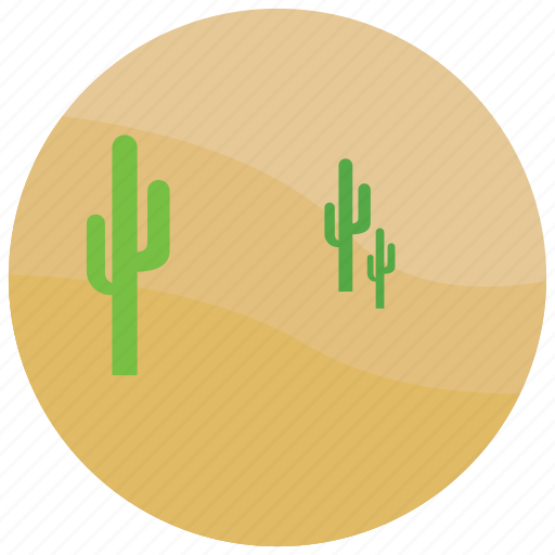cactus, desert, heat, locations, places, sand icon