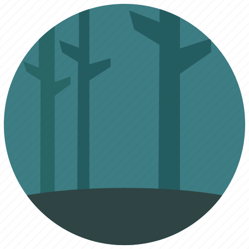 dark, locations, night, places, trees, woods icon