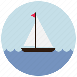 boat, locations, ocean, places, sail, sea icon