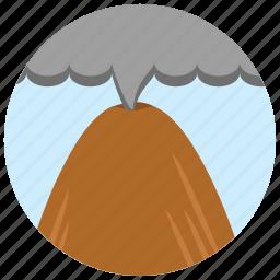 locations, mountain, places, smoke, volcano icon