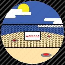 clouds, grenades, locations, places, sun, warzone icon