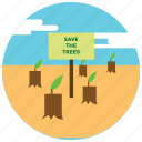 forest, locations, places, preservation, trees, wildlife icon