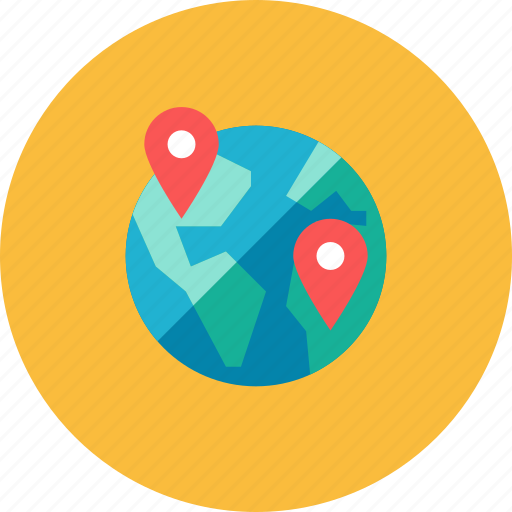 Globe, pin icon - Download on Iconfinder on Iconfinder