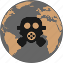 biohazard, disaster, gas mask, pollution icon