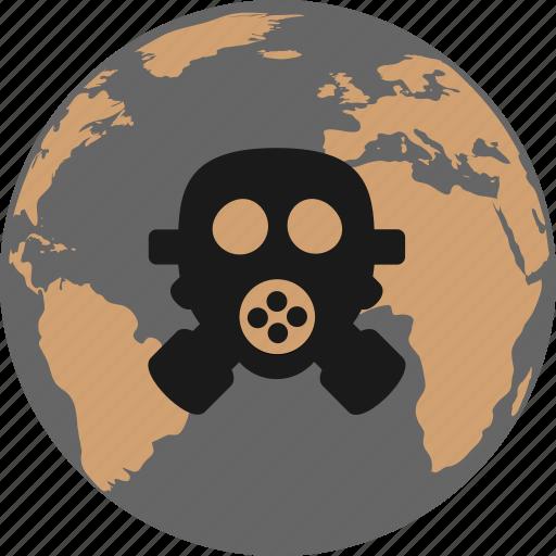biohazard, disaster, gas mask, pollution icon