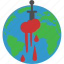 bleeding, hurt, planet destroy, planet injury icon
