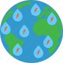 climate change, global warming, risky climate, storm icon
