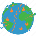 apocalypse, armagedon, disaster, world end icon