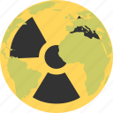 nuclear, planet, radiation, radioactive icon